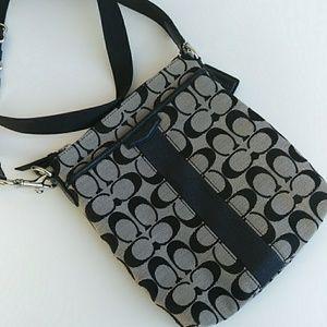 Like-New Coach Signature Canvas Crossbody Bag